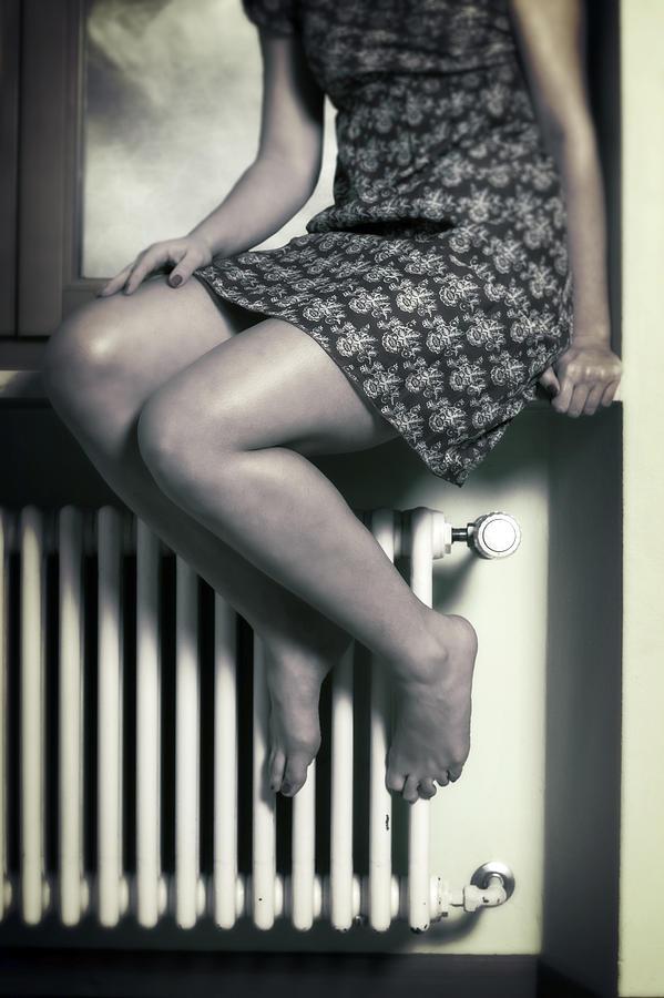 Girl Photograph - Woman On Window Sill by Joana Kruse