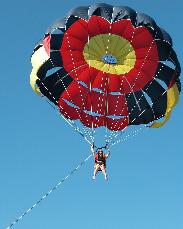 Pixels Photograph - Woman Parasailing by Rob Huntley