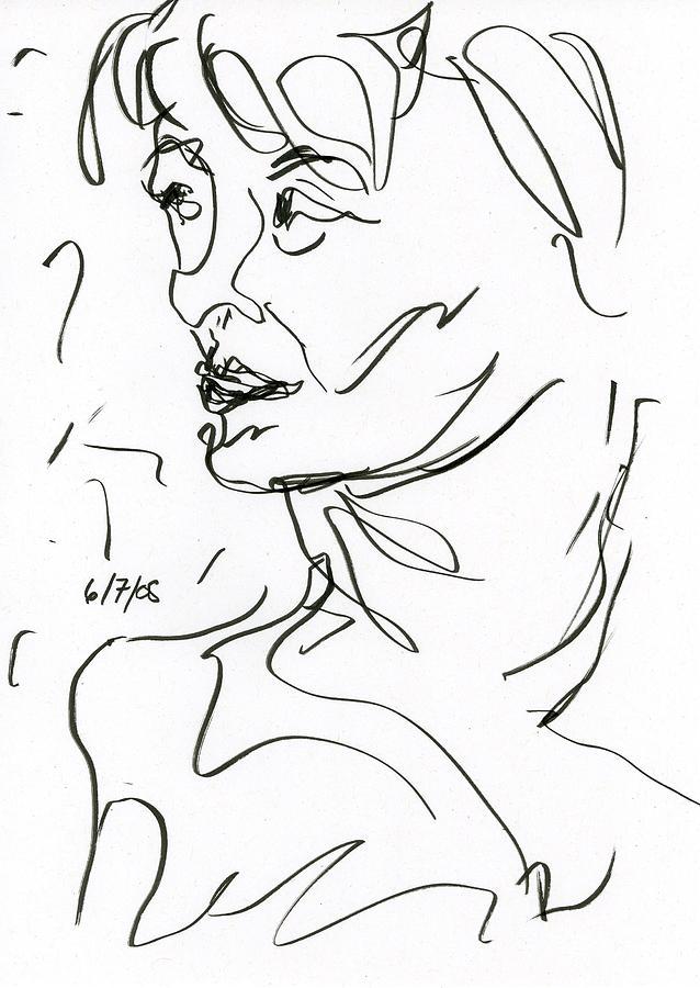 Woman Drawing - Woman by Rachel Scott