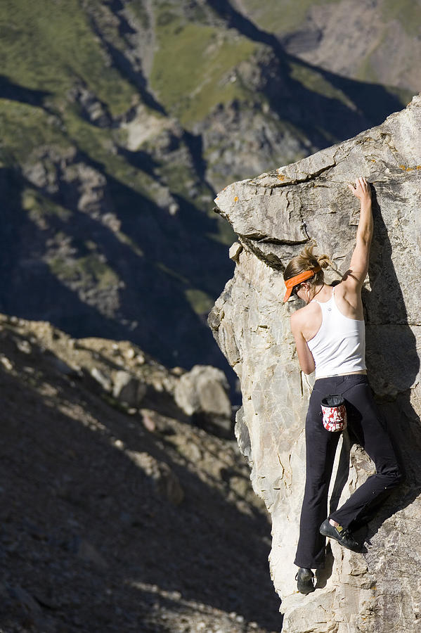 Adventure Photograph - Woman Rock Climbing, India by Gabe Rogel