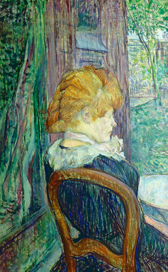 Toulouse-lautrec Painting - Woman Sitting In A Garden by Henri de Toulouse-lautrec