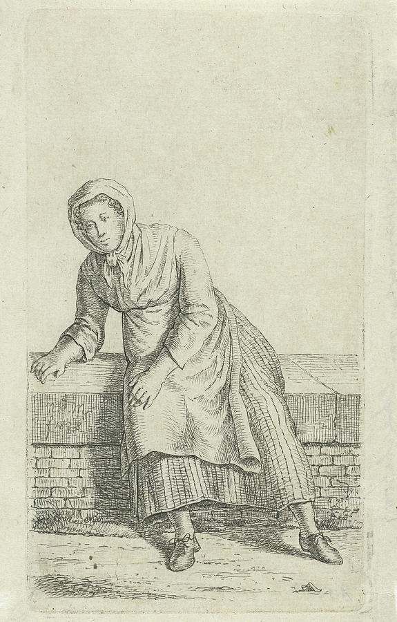 1828 Drawing - Woman Sitting On A Wall, Anthonie Willem Hendrik Nolthenius by Quint Lox
