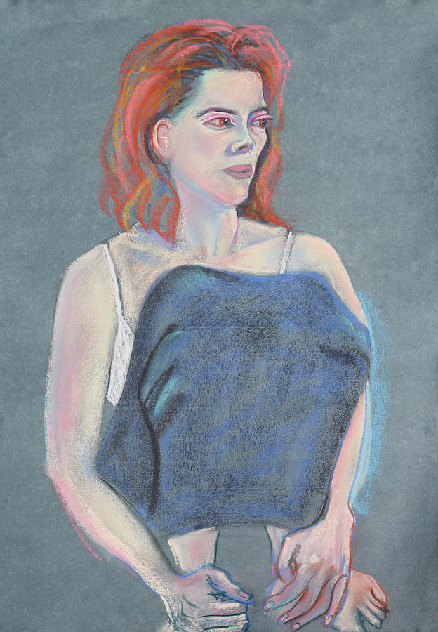 Figure Painting Painting - Woman Sitting With Her Skirt Covering Her Legs by Asha Carolyn Young