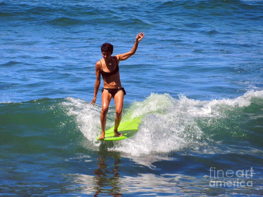 Action Photograph - Woman Surfer by Alexandra Jordankova
