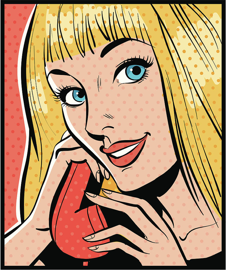 Woman Talking On Telephone Digital Art by Mcmillan Digital Art