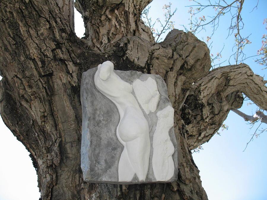 Nude Woman Torso Sculpture Relief - Woman Torso - Cast 1 by Flow Fitzgerald