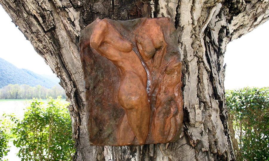 Relief Sculpture Relief - Woman Torso Relief by Flow Fitzgerald