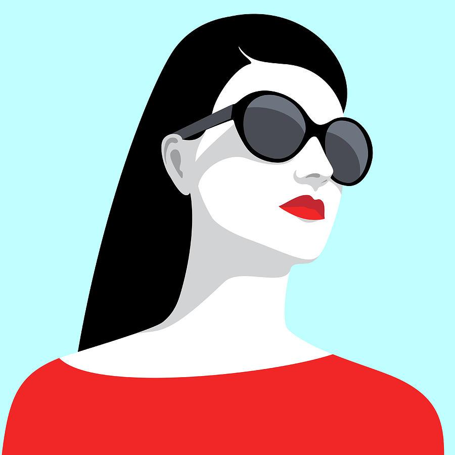Woman Wearing Sunglasses Digital Art by Marzacz