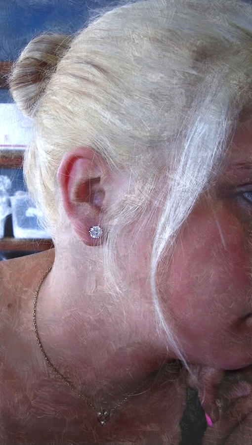 Woman With Diamond Studs Photograph by Judy Paleologos