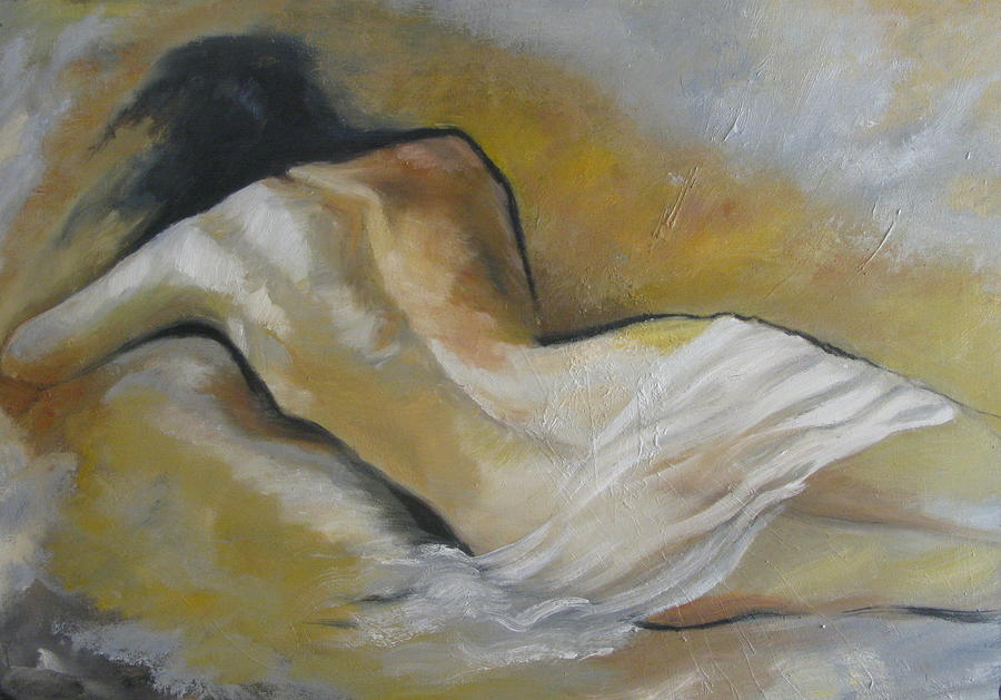 Woman's Back Painting by Jessy