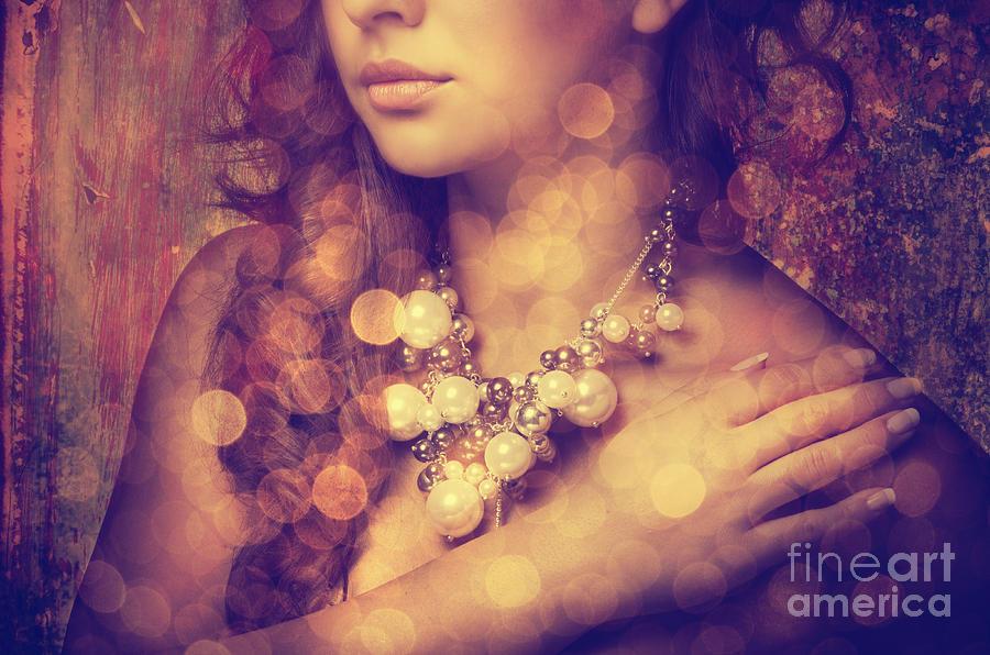 Decollete Photograph - Womans Decollete by Jelena Jovanovic
