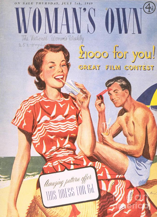 1940�s Drawing - Womans Own 1949 1940s  Uk Holidays by The Advertising Archives