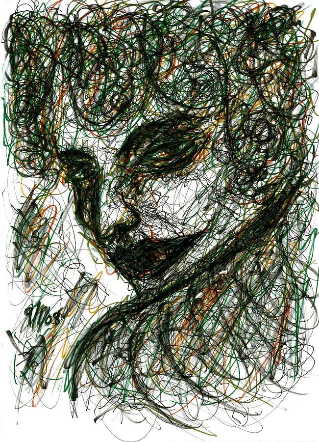 Woman Drawing - Womans Smile by Rachel Scott