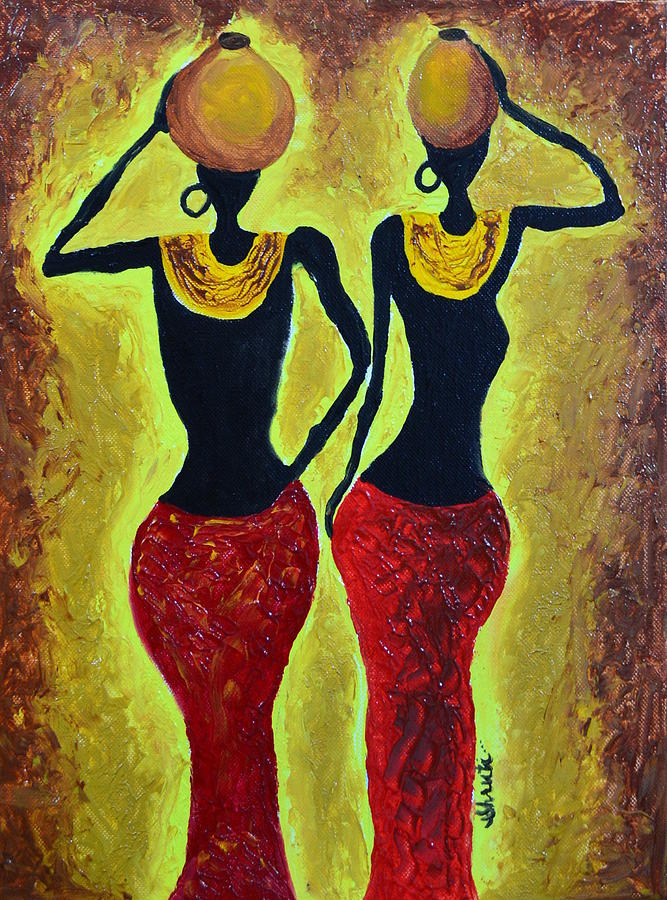African Women Painting - Women At Work by Shruti Prasad