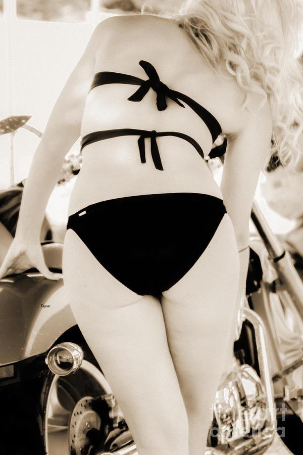 Beauty Photograph - Woman In Bikini Black by Steven Digman