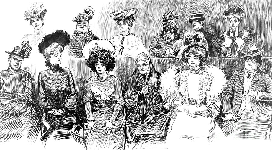 Faces Photograph - Women Jurors 1902 by Padre Art