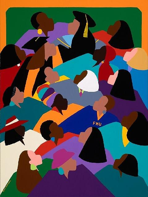 Women Painting - Women Lifting Their Voices by Synthia SAINT JAMES