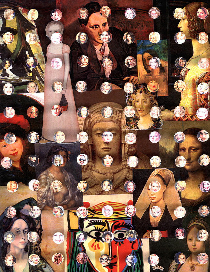 Collage Mixed Media - Women Of The Past Women Of The Present by Irmari Nacht