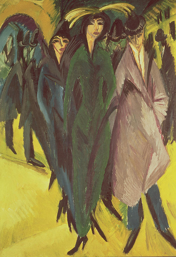 Hats Painting - Women On The Street by Ernst Ludwig Kirchner