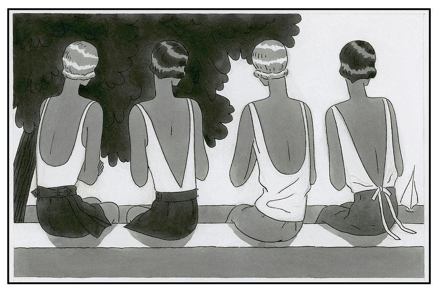 Women Wearing Bathing Suits Digital Art by Harriet Meserole
