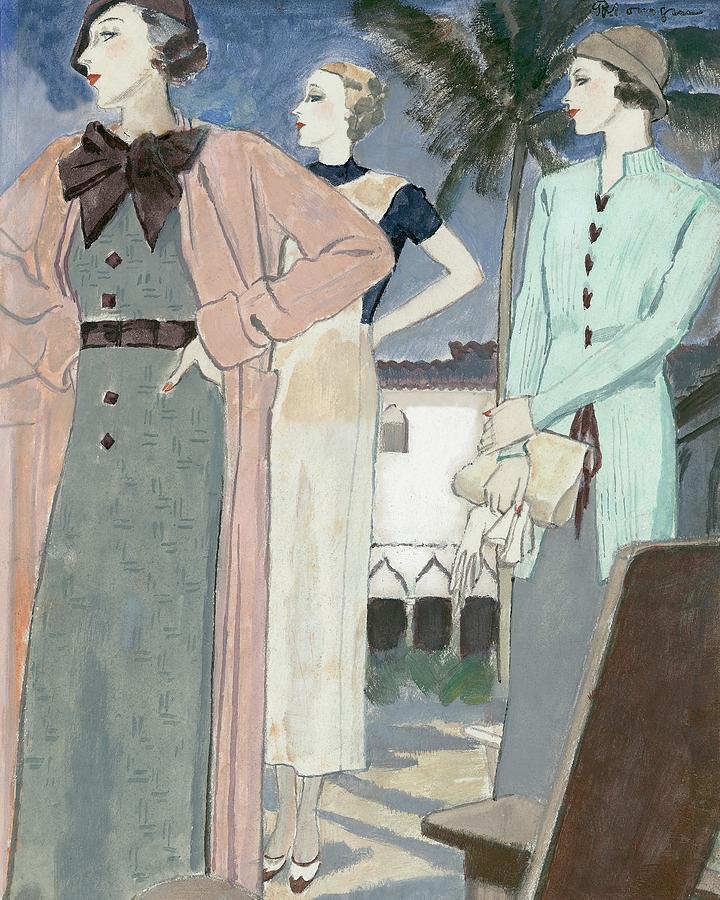 Women Wearing Woolen Knits Digital Art by Pierre Mourgue