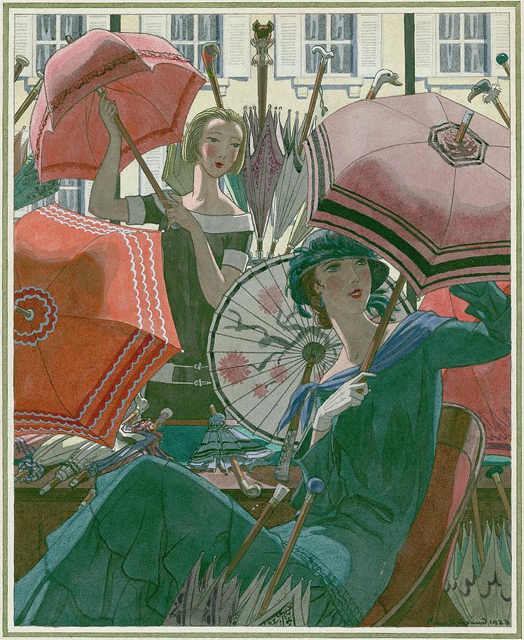 Women With Parasols Digital Art by Pierre Brissaud