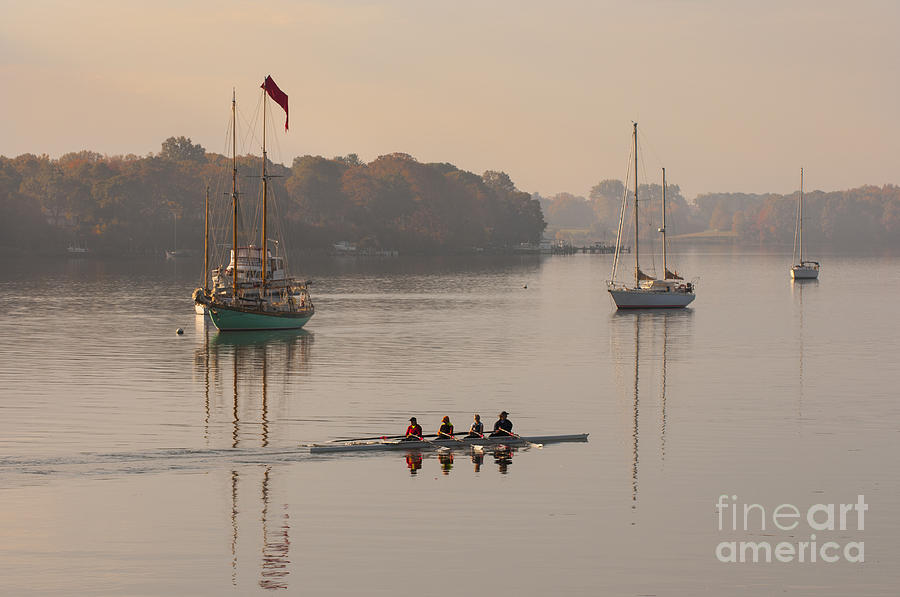 2013 Photograph - Womens Four And More On The Chester River by Lauren Brice