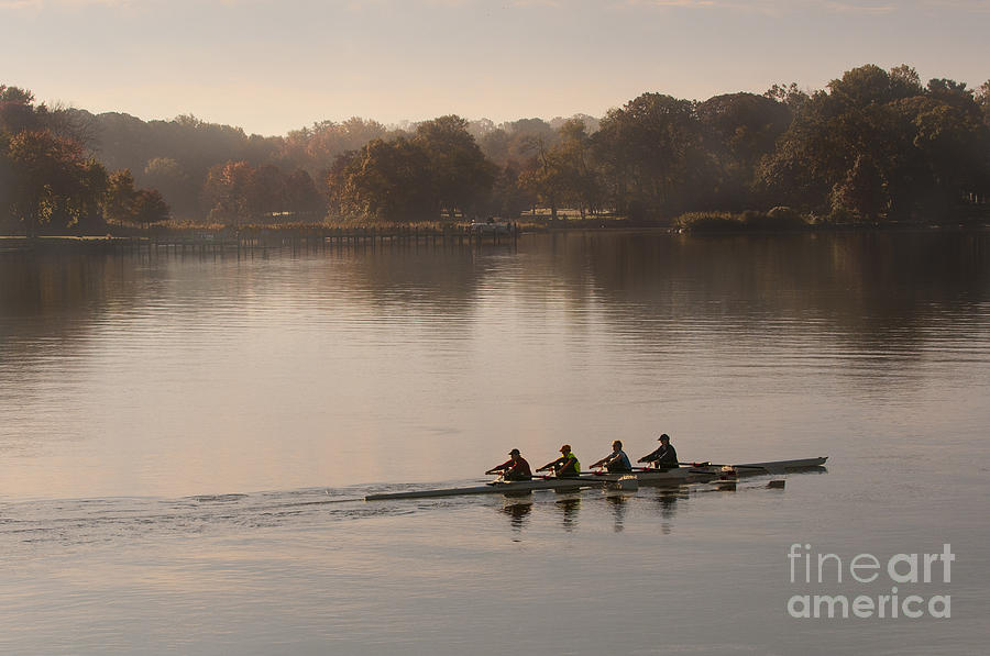2013 Photograph - Womens Four on the Chester River by Lauren Brice