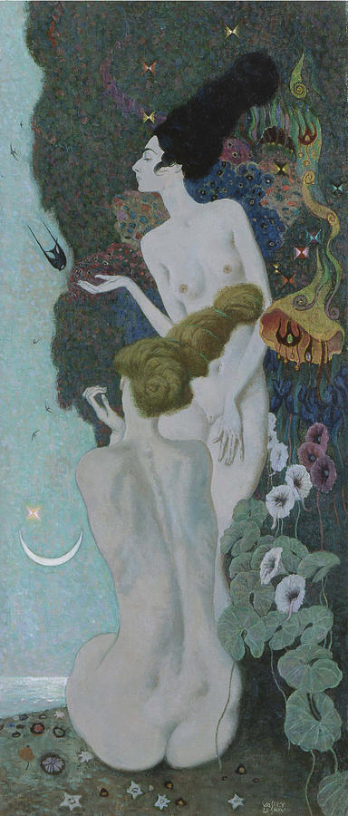Nude Painting - Womens Paradise by Vassily Leskov