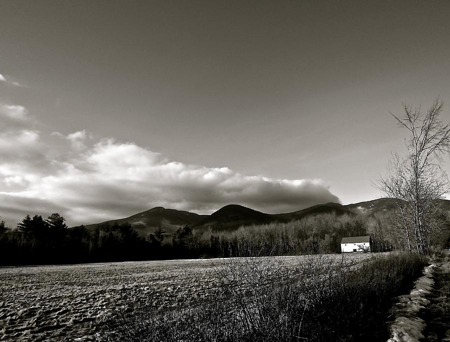 Mountains Photograph - Wonalancet In Black And White by Elizabeth Tillar