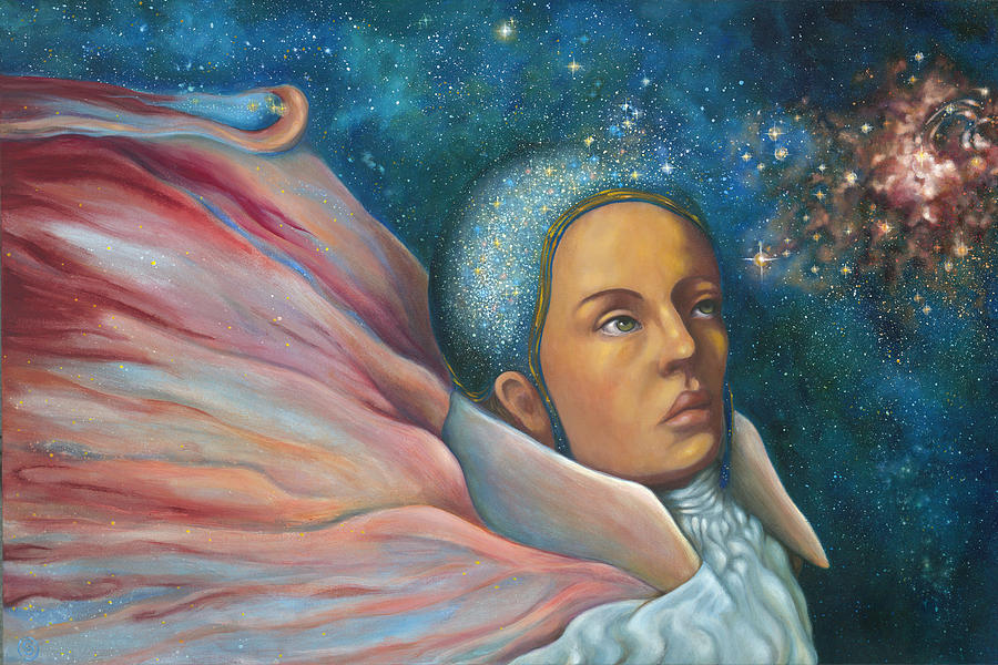 Divine Feminine Painting - Wonder by Christina Gage