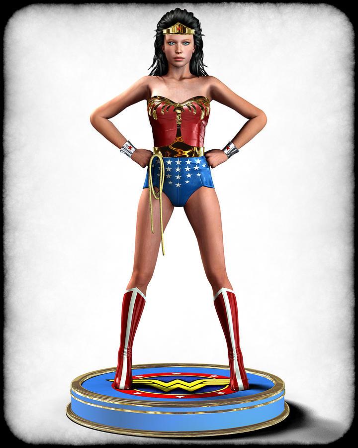 Woman Digital Art - Wonder Woman Retro by Frederico Borges
