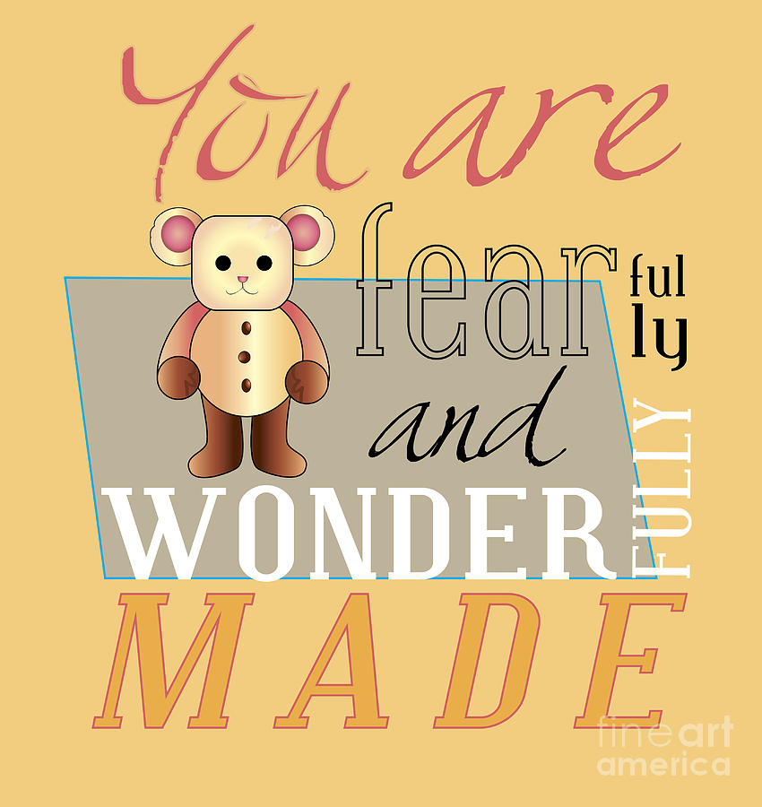 Cookie Digital Art - Wonderfully Made by Affini Woodley