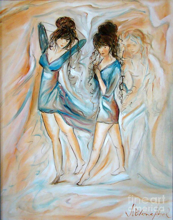 Love Painting - Wondering by Silvana Abel