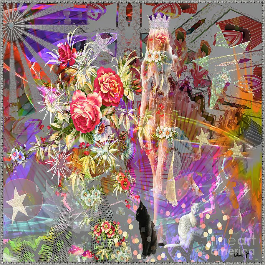 Abstract Digital Art - Wonderland by Eleni Mac Synodinos