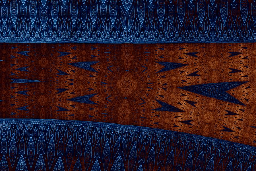 Abstract Digital Art - Wood And Blue by Mark Eggleston