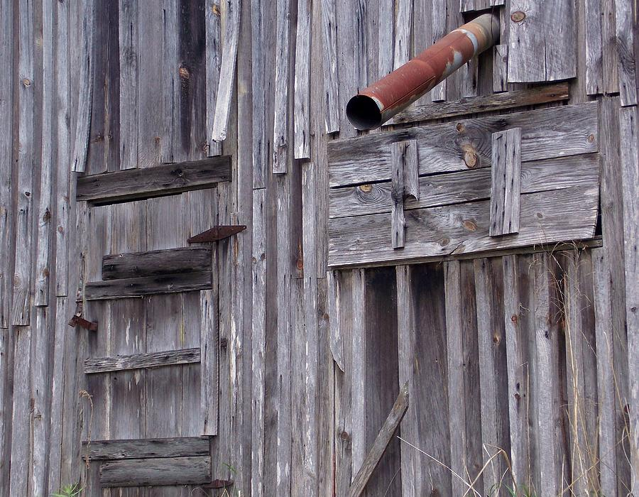 Barns Photograph - Wood And Rust by John Glass