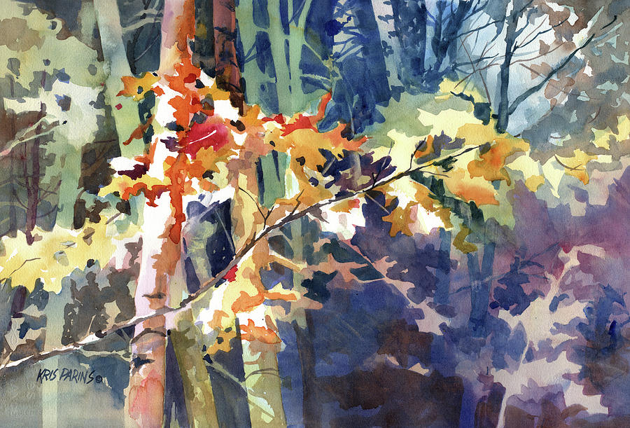 Woods Painting - Wood Song by Kris Parins