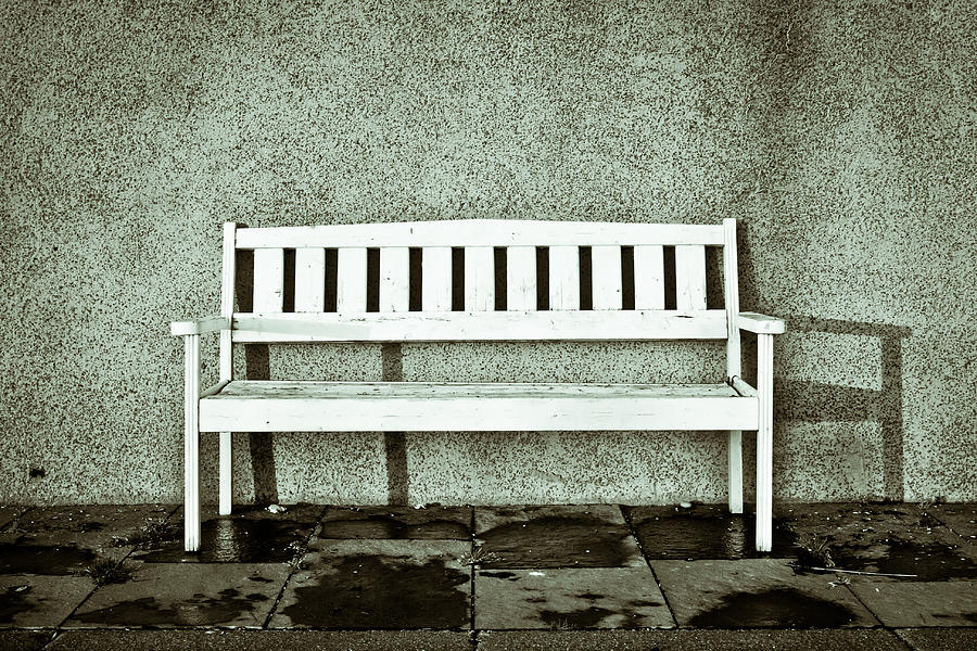 Air Photograph - Wooden Bench by Tom Gowanlock