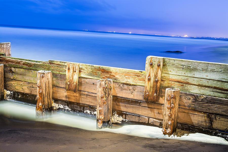 Break Wall Photograph - Wooden Break Wall by Joe Belanger