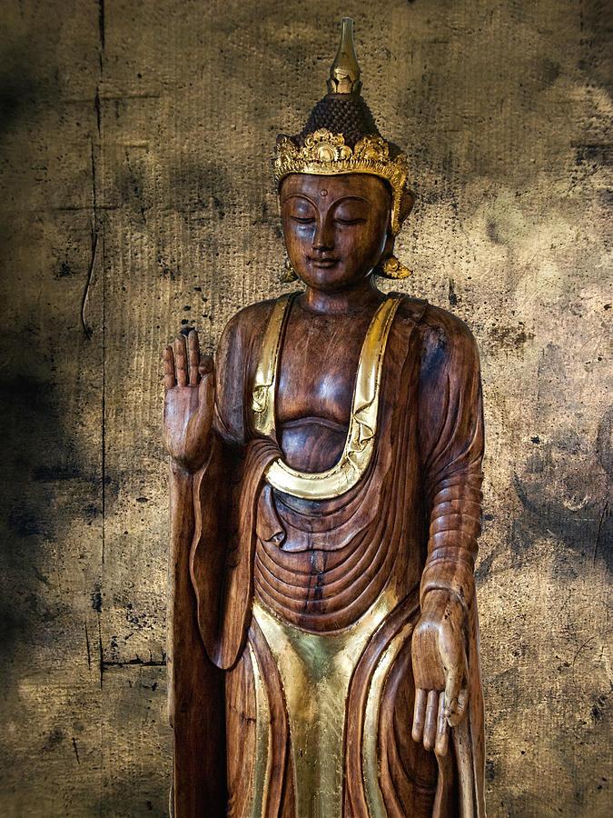 Wooden Buddha Photograph by Joachim G Pinkawa