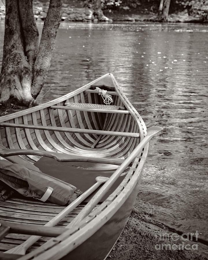 Canoe Photograph - Wooden Canoe by Edward Fielding
