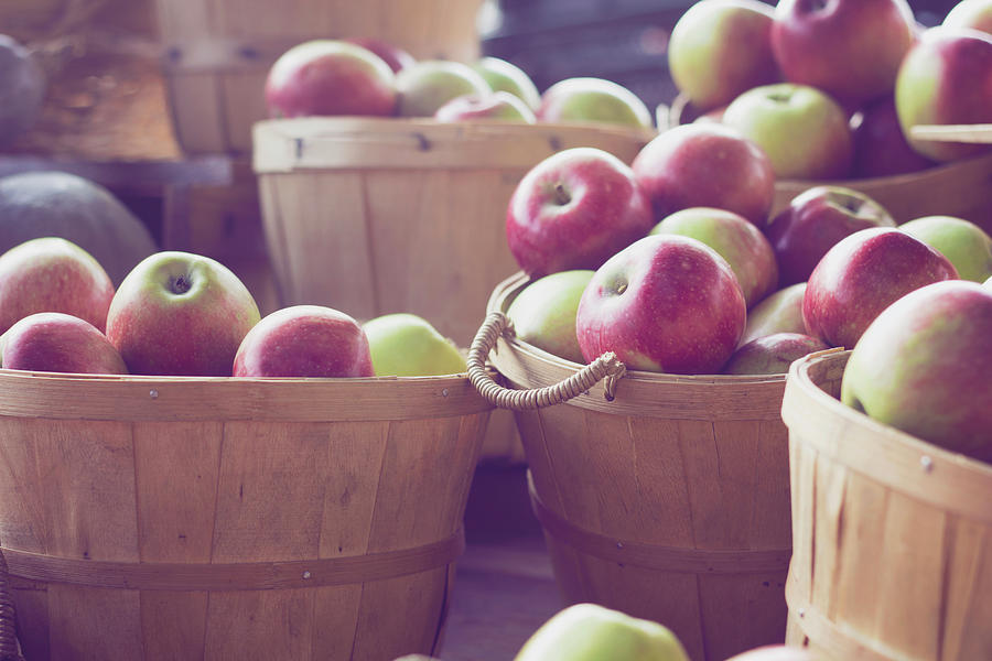 Wooden Crates Full Of Fresh Apples Photograph by Gabriela Tulian