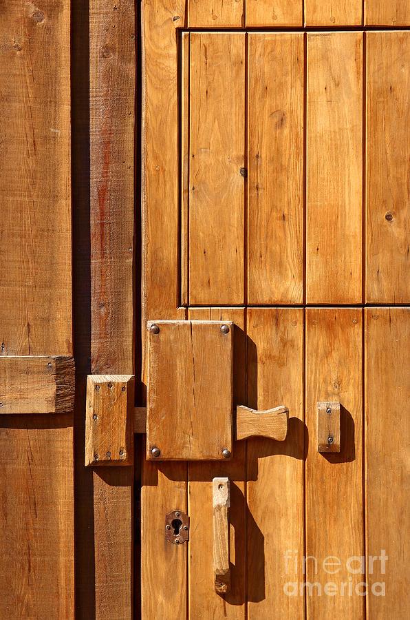 Ancient Photograph - Wooden Door Detail by Carlos Caetano