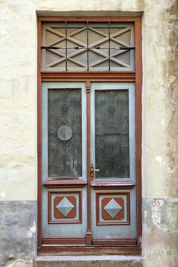 Wooden Door With Glass And Decoration Photograph by Eugenesergeev