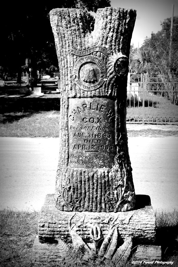 Cemetery Photograph - Wooden Grave by Debra Forand