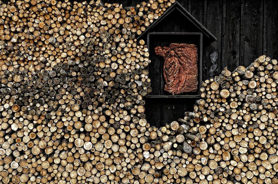 Wood Photograph - Wooden Madonna by Konrad Szuszkiewicz
