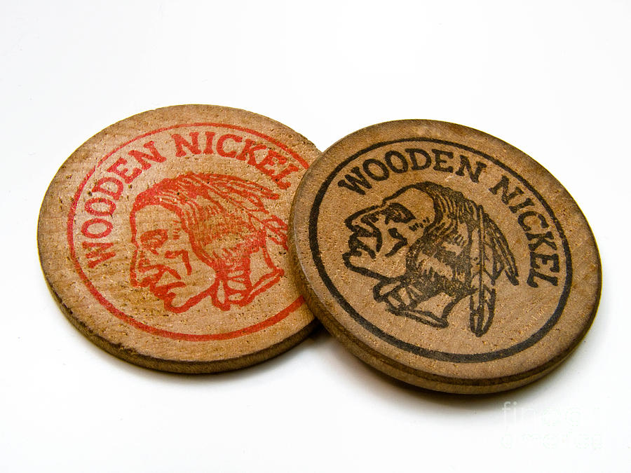 1960s Photograph - Wooden Nickels by Amy Cicconi