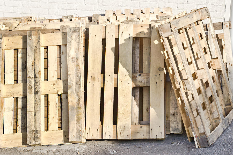 Abstract Photograph - Wooden Pallets by Tom Gowanlock