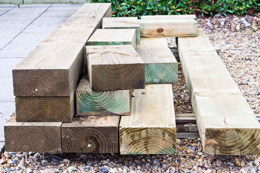 Building Photograph - Wooden Planks by Tom Gowanlock